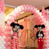 粉色气球城堡