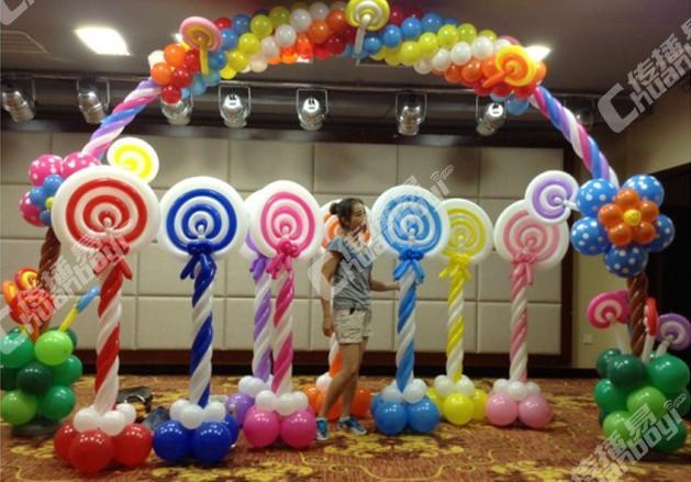 棒棒糖造型气球装饰路引